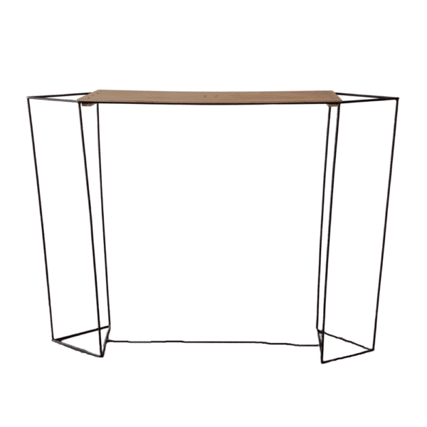 geometric metal flower stand for table centerpiece
